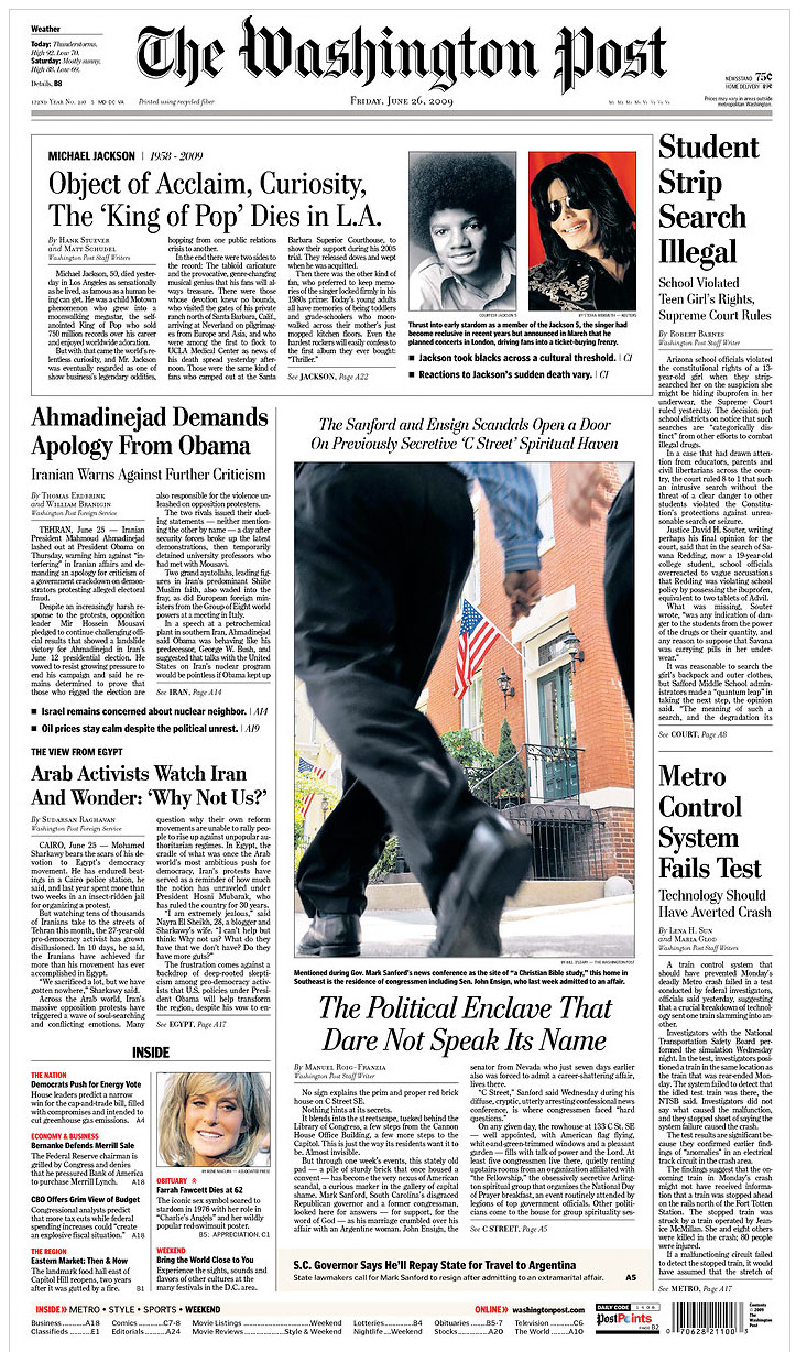 Photo Business News & Forum: Washington Post Fakes Own Front Page ...